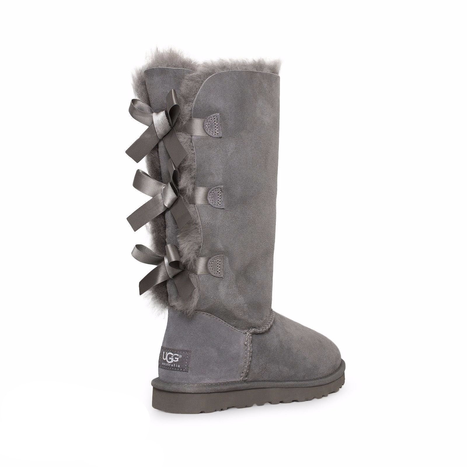 42a8fd383a2 UGG Bailey Bow Tall Grey Boots