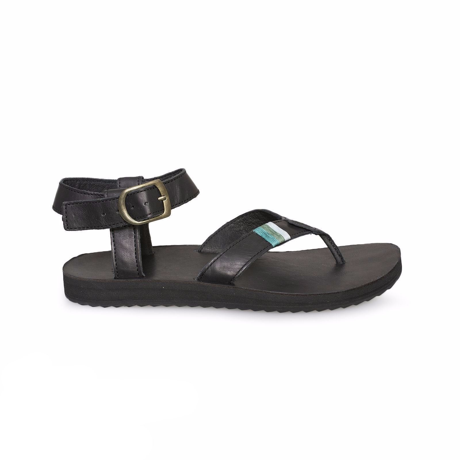 29b59167eef9 Teva Original Crafted Leather Black Sandal - MyCozyBoots