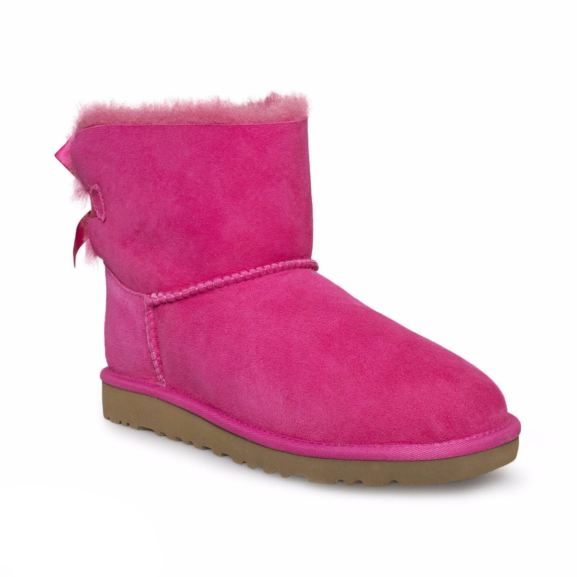 UGG Bailey Bow Mini Cerise Pink Boots