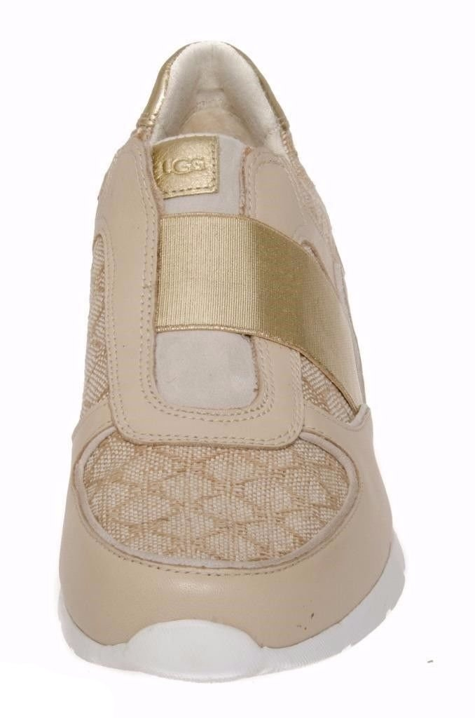 UGG ANNETTA BUFF LEATHER FASHION SNEAKERS
