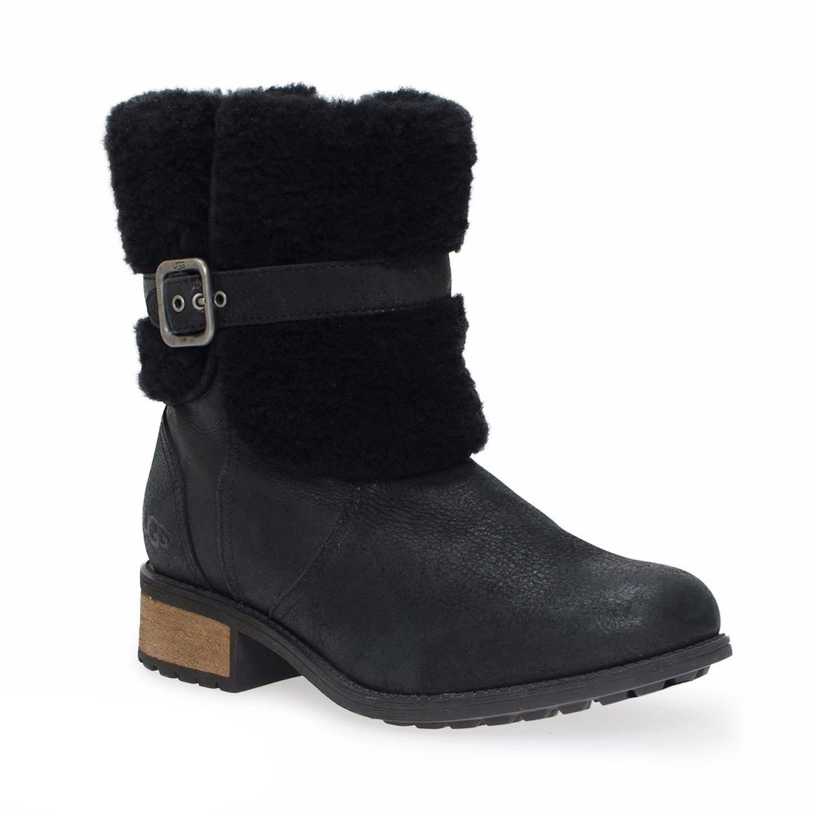 UGG Blayre II Leather Black Boots