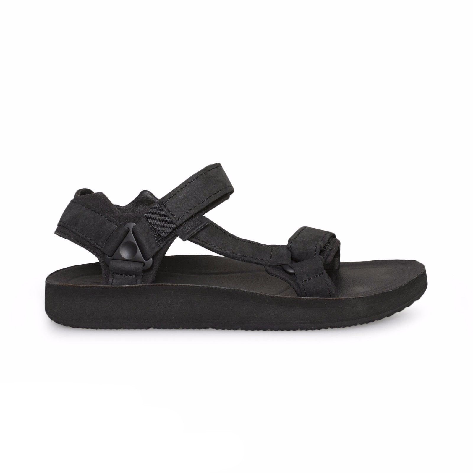 df58c630493ba0 Teva Original Universal Premier Leather Black Sandals - MyCozyBoots