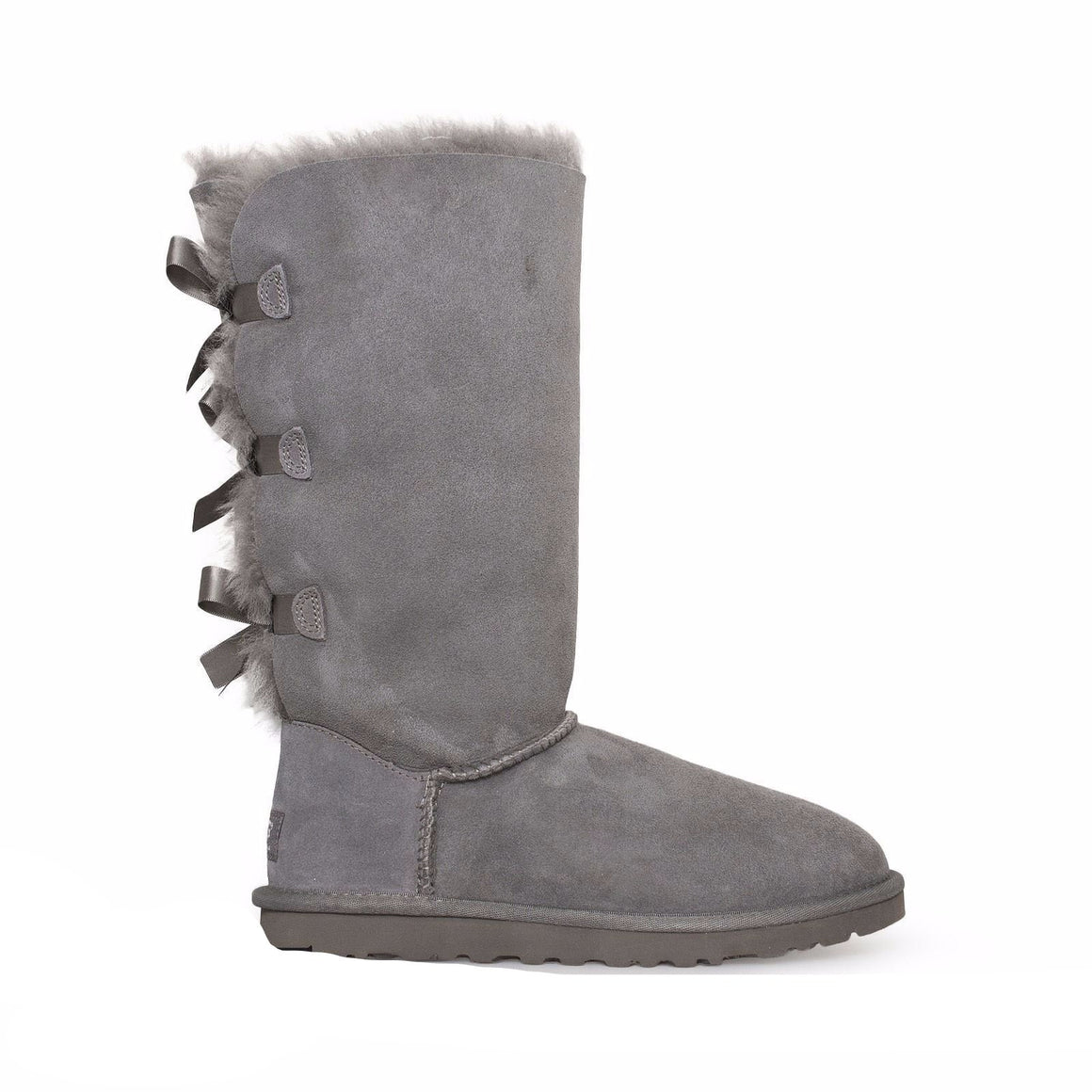UGG Bailey Bow Tall Grey Boots