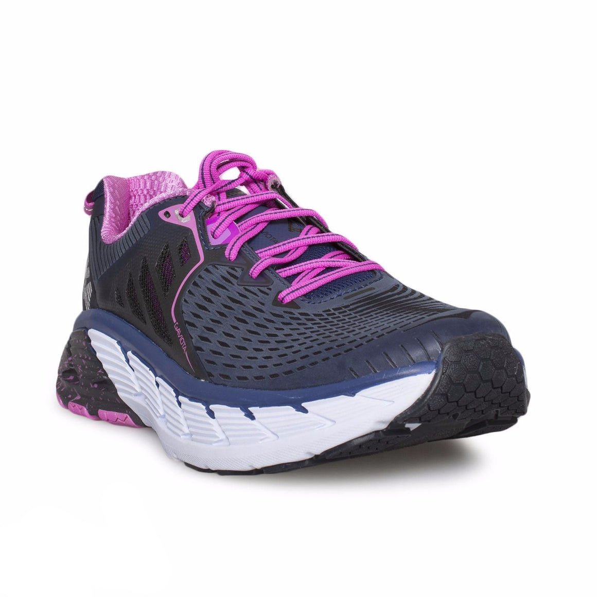 Hoka Gaviota Medieval Blue / Fuchsia Running Shoes