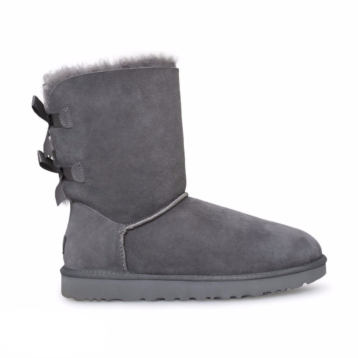 UGG Bailey Bow ii Grey Boots - Youth / Toddler
