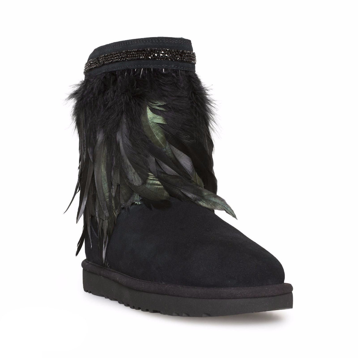 UGG Classic Short Peacock Black Boots