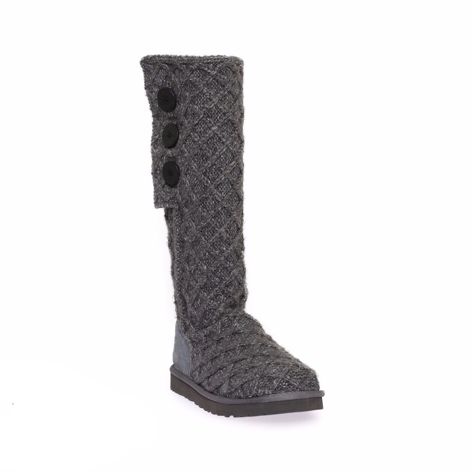 3a5f1755002 UGG Lattice Cardy Charcoal Boots