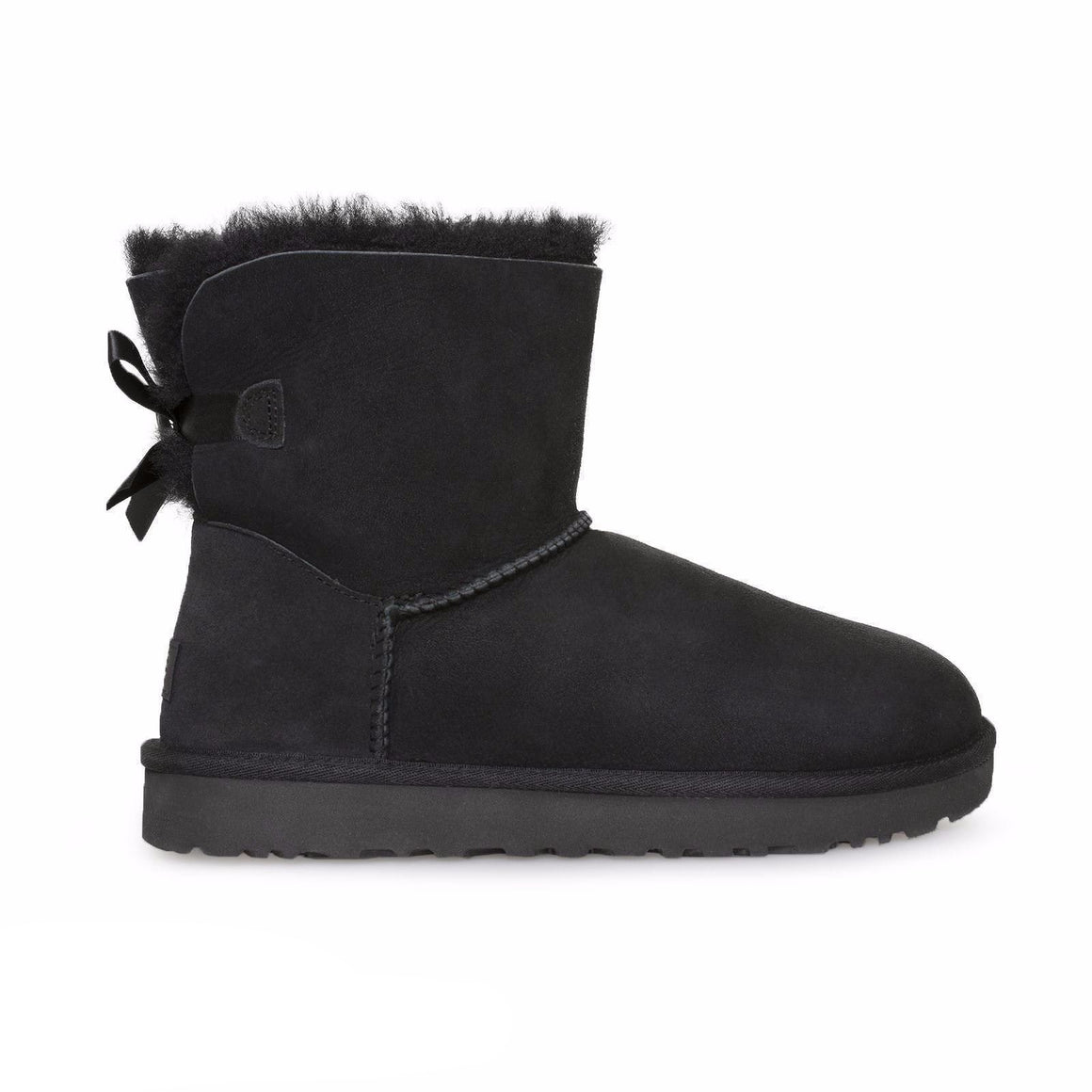 UGG Mini Bailey Bow II Black Boots - Youth