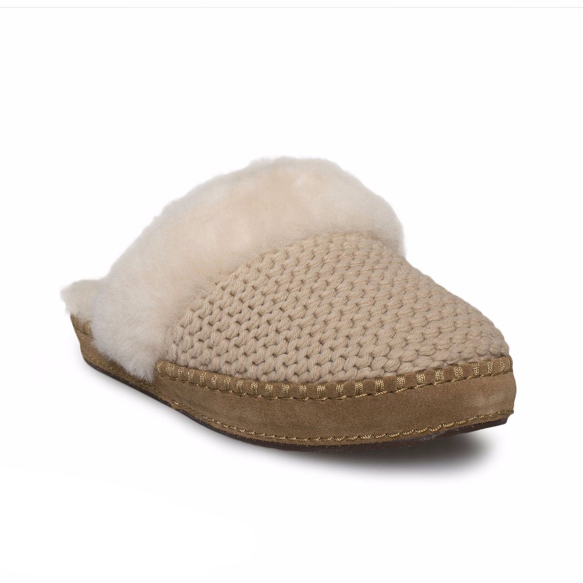 UGG Aira Knit Cream Slippers