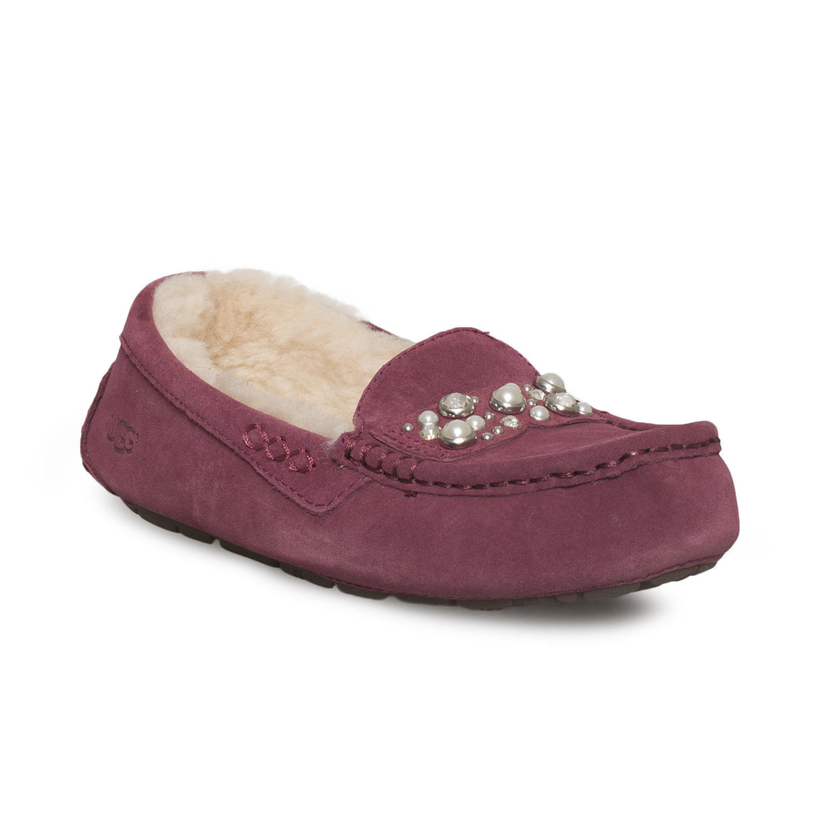 UGG Ansley Bow Brilliant Garnet Slippers