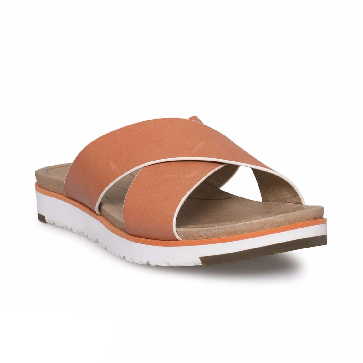 UGG Kari Fire Opal Leather Flip Flops