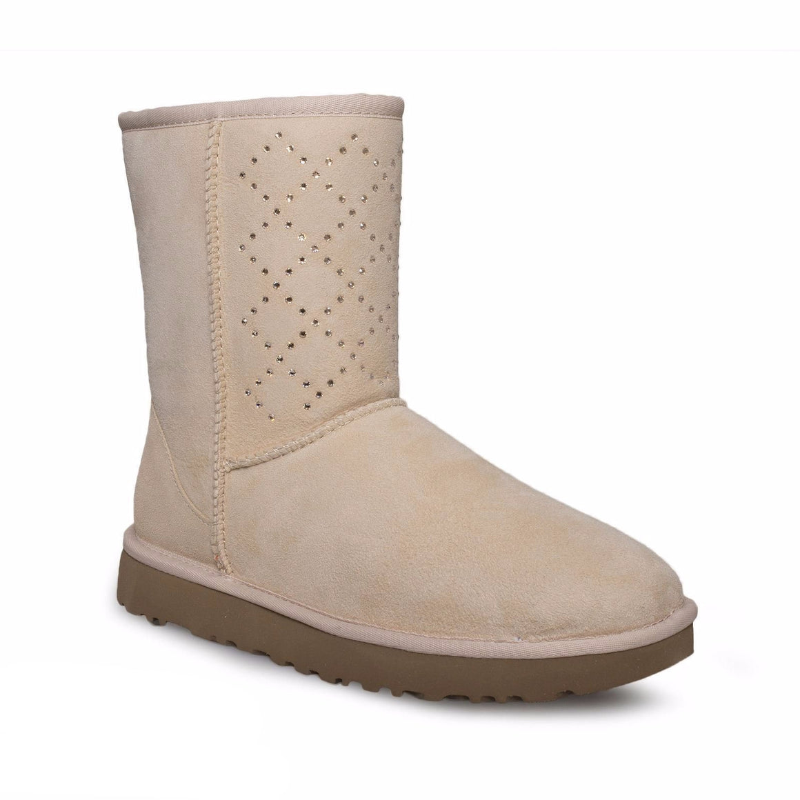 UGG Classic Short Crystal Diamond Freshwater Pearl Boots