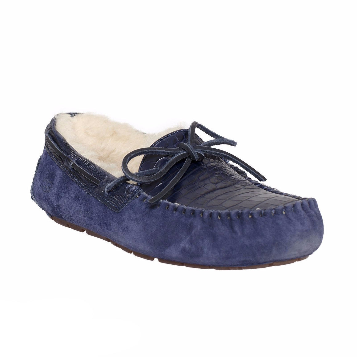 UGG Dakota Croco Navy Slippers