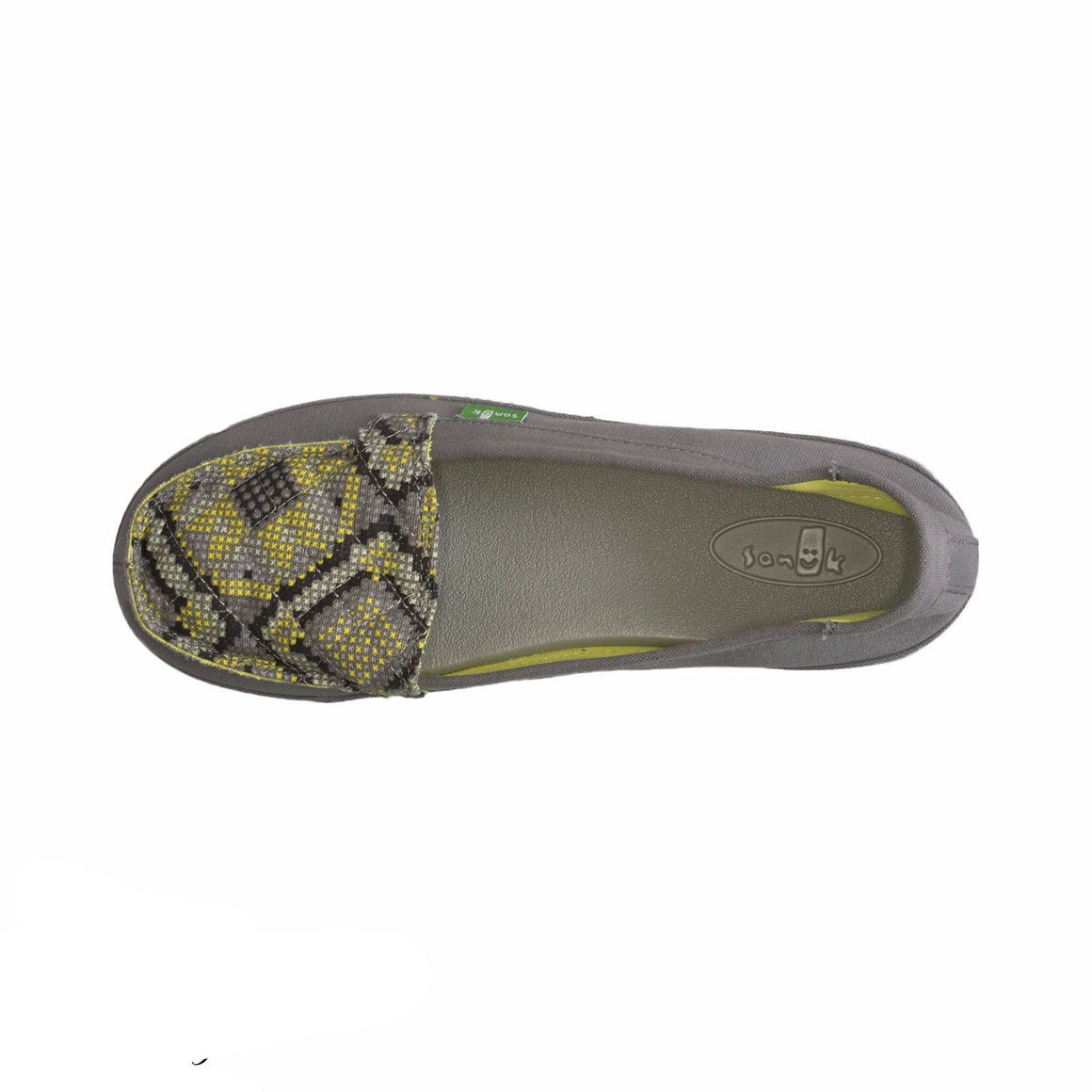 Sanuk Cross Stitch Charcoal / Highlighter Shoes