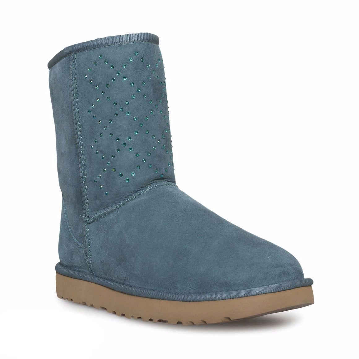 UGG Classic Short Crystal Diamond Emerald Boots