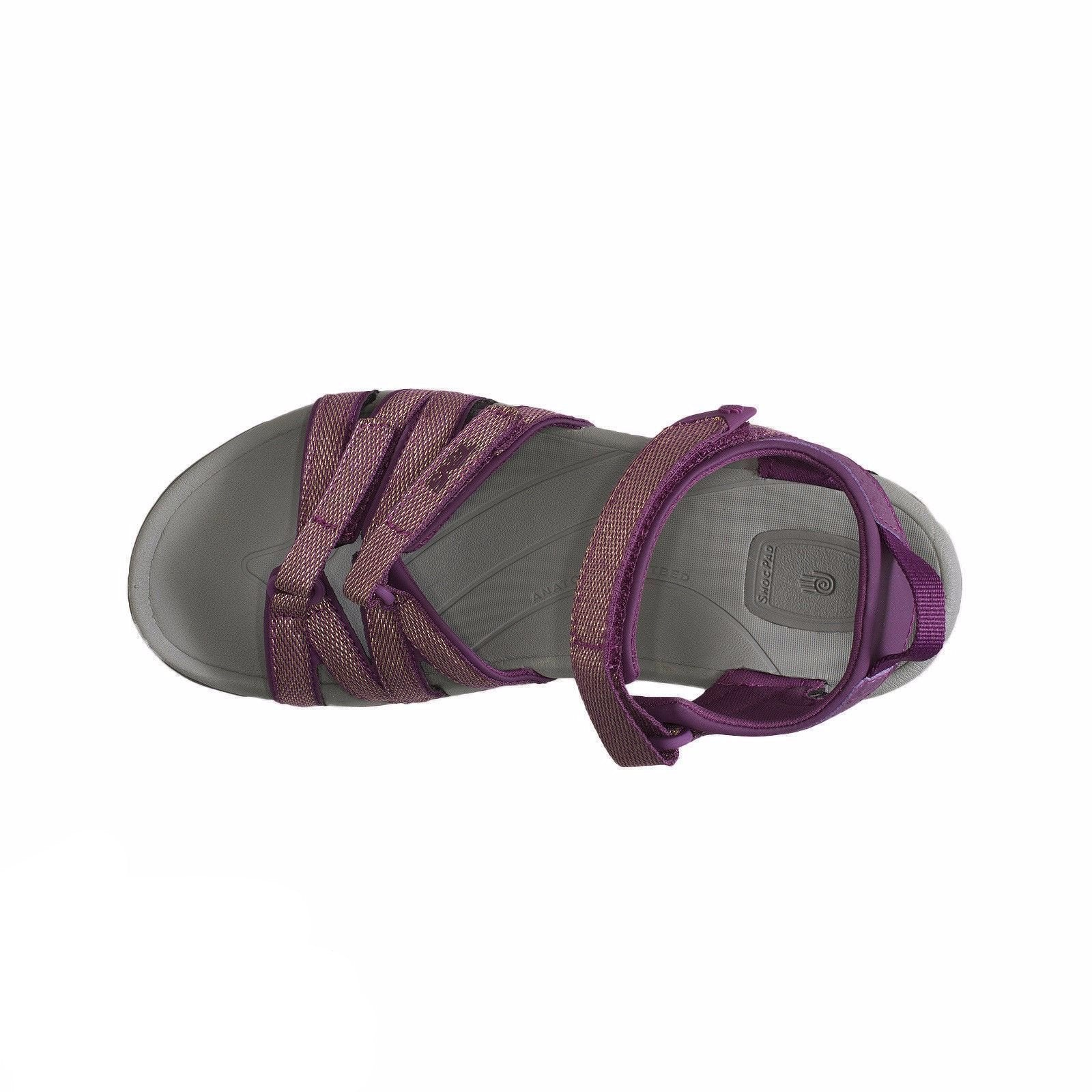 43e8b0822f27 Teva Tirra Zaca Dark Purple Gold Sandals - MyCozyBoots