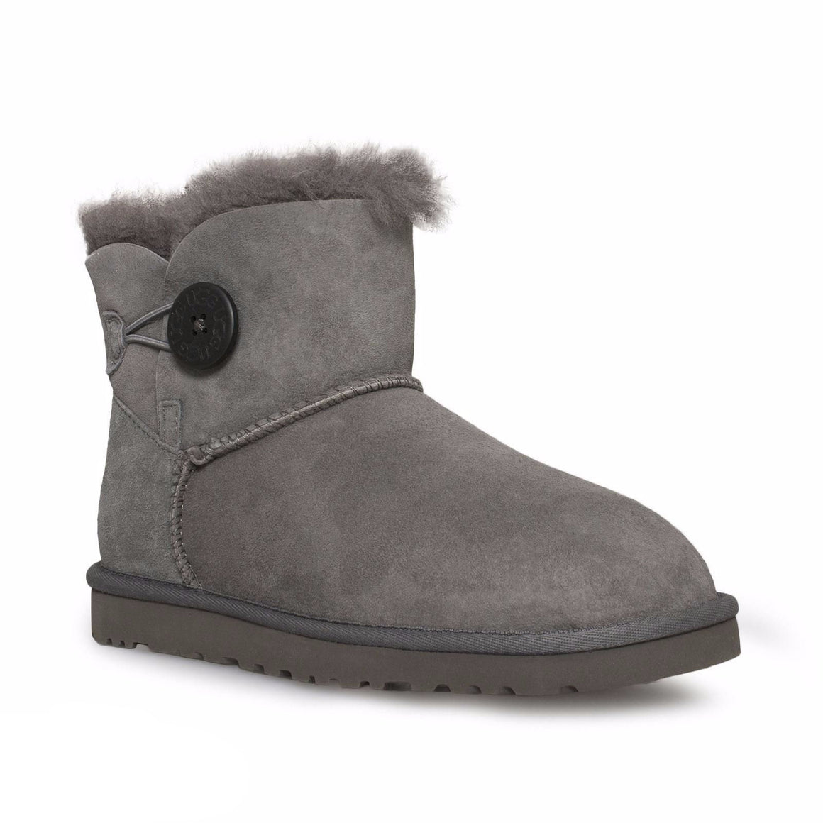 UGG Bailey Button Grey Boots - Youth