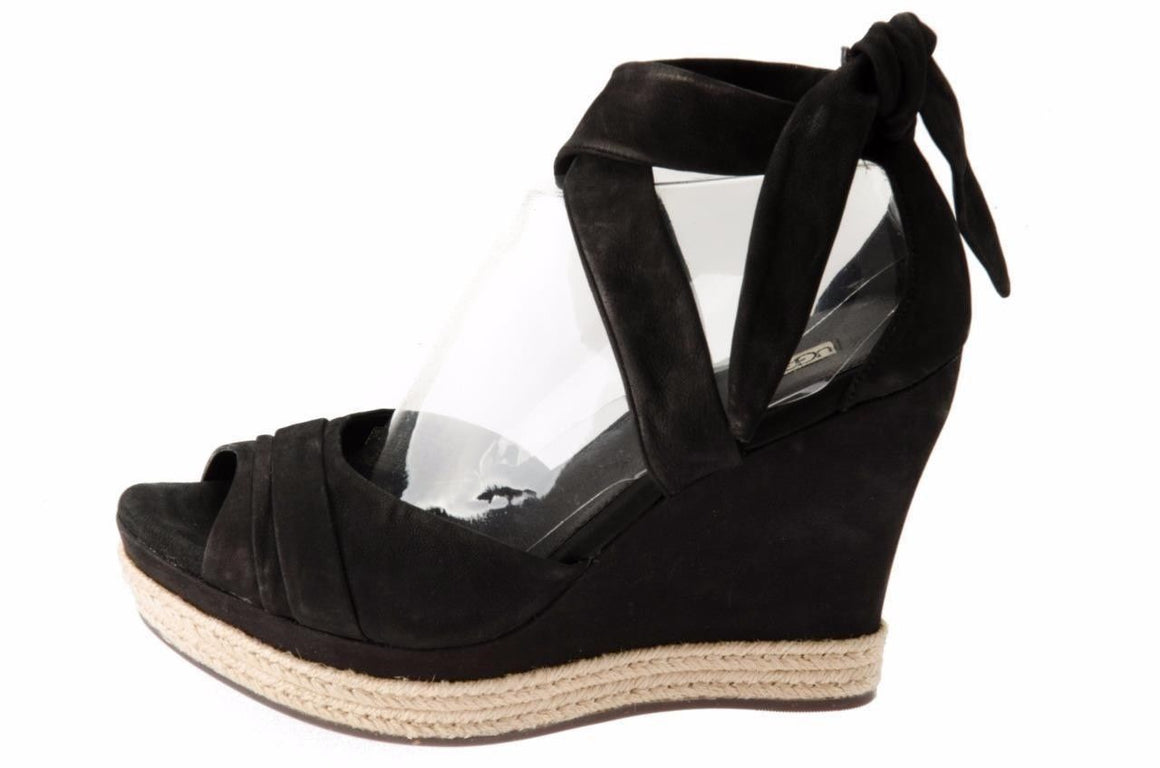 UGG LUCY BLACK WEDGES