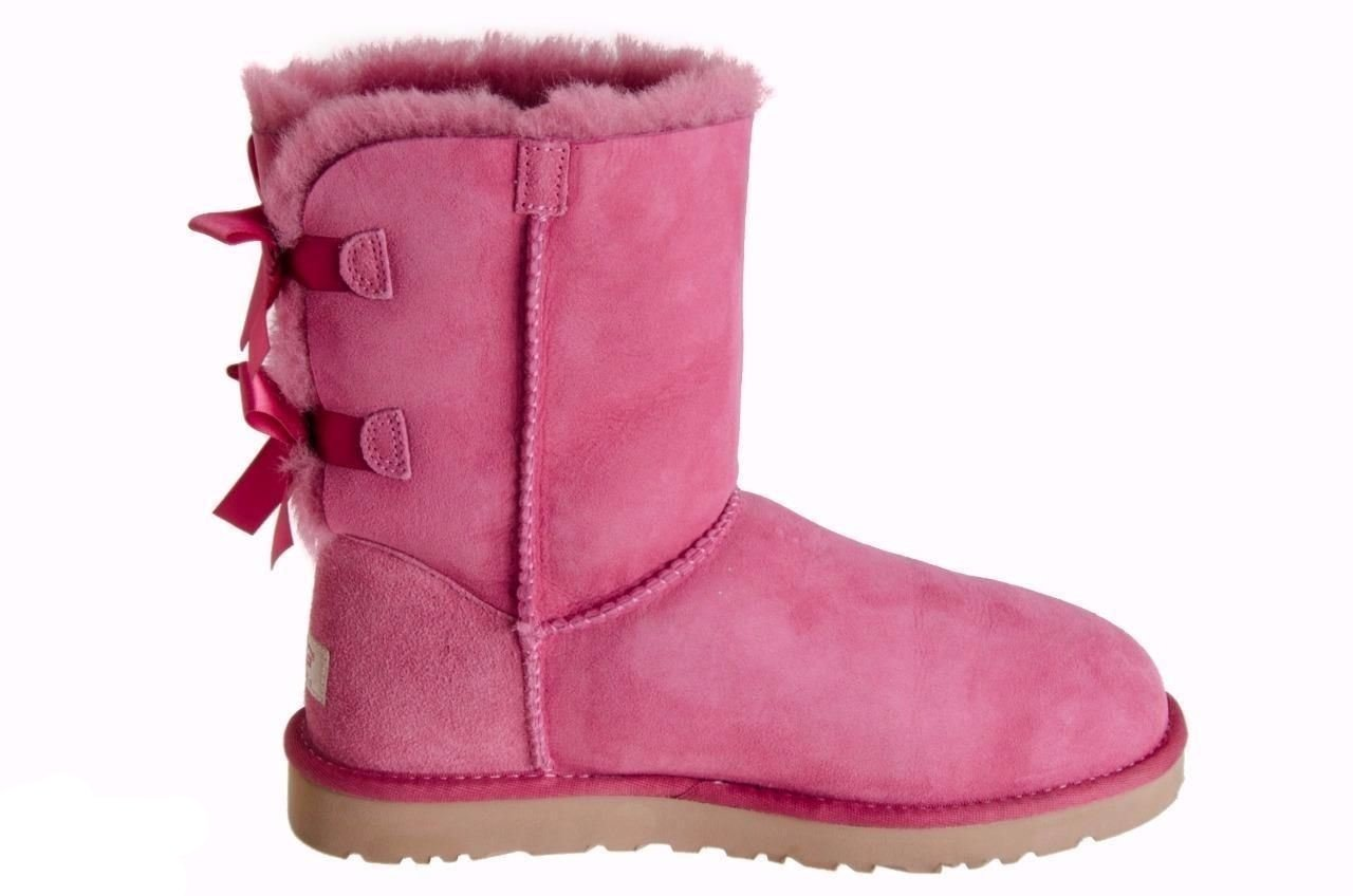 18829c333f5 UGG Bailey Bow Dusty Rose Boots - MyCozyBoots