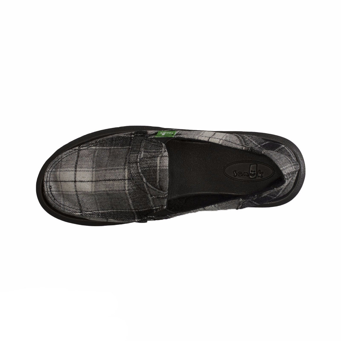 Sanuk Pick Pocket Plaid Black Vest Shoes