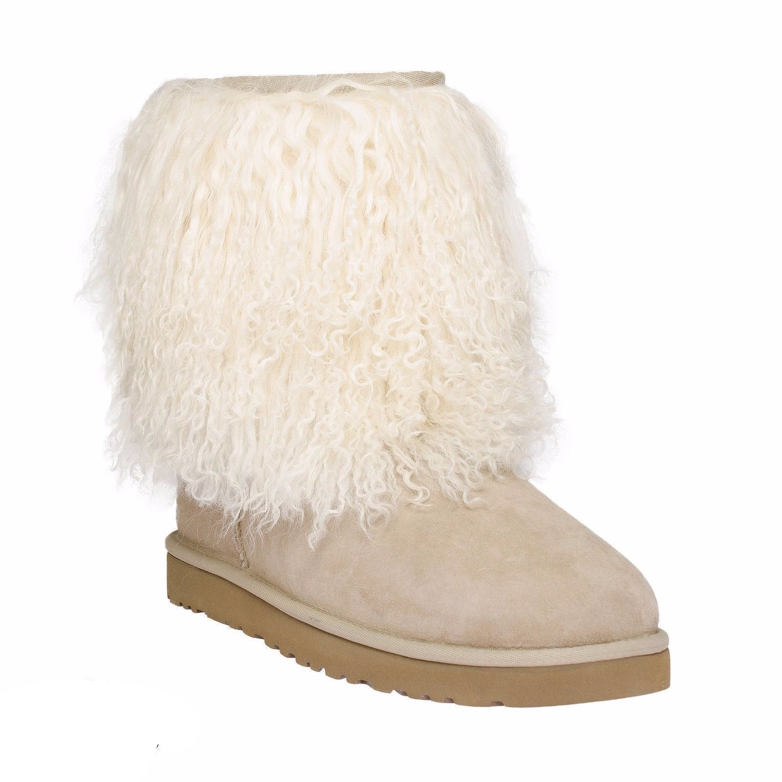 Classic Cuff Sand Ugg Boot with Sand Fur