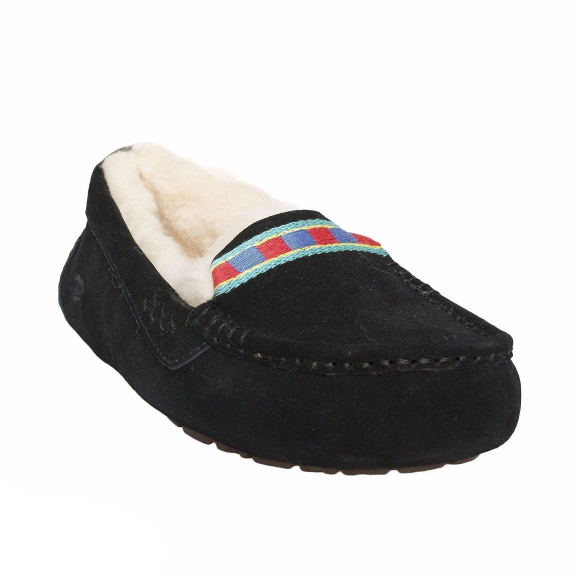 UGG Ansley Embroidery Black Slippers