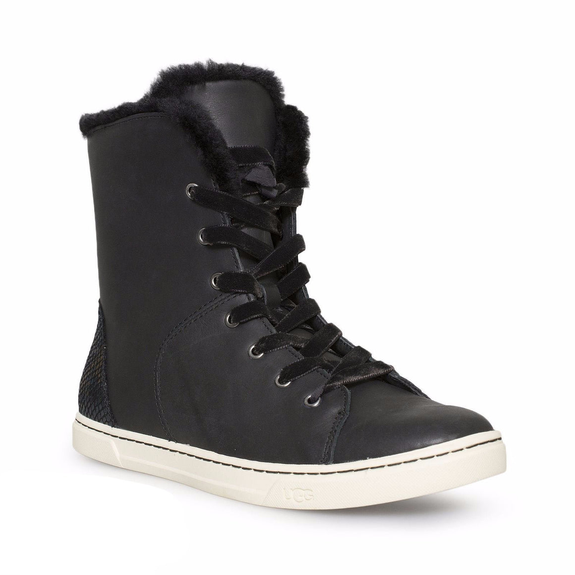 UGG Croft Exotic Velvet Black Sneakers