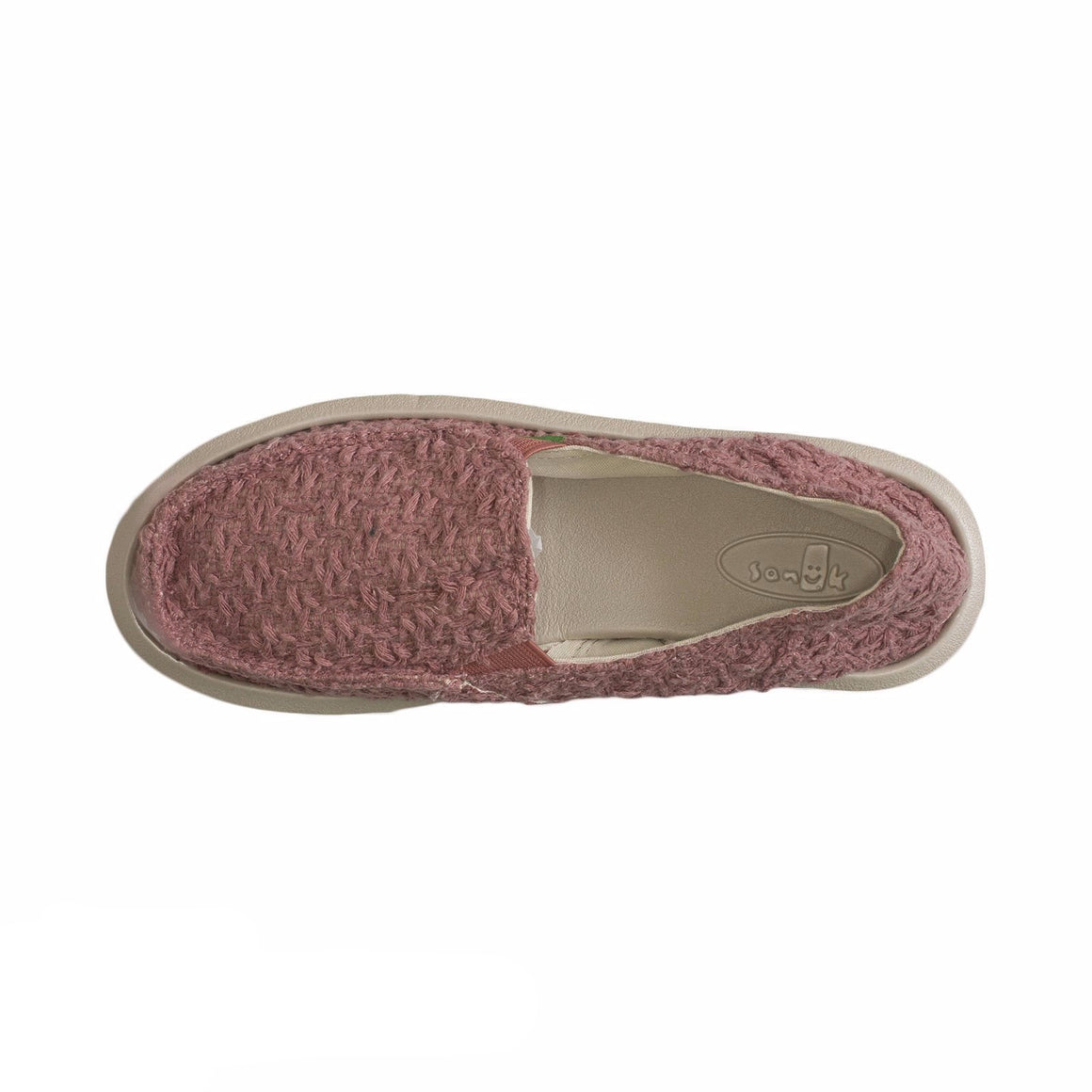 Sanuk Donna Knit Stitch Rose Shoes