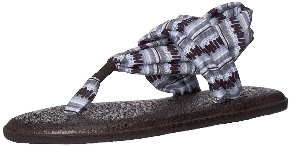 Sanuk Yoga Sling 2 Black / White Island Stripe Sandals - Women's