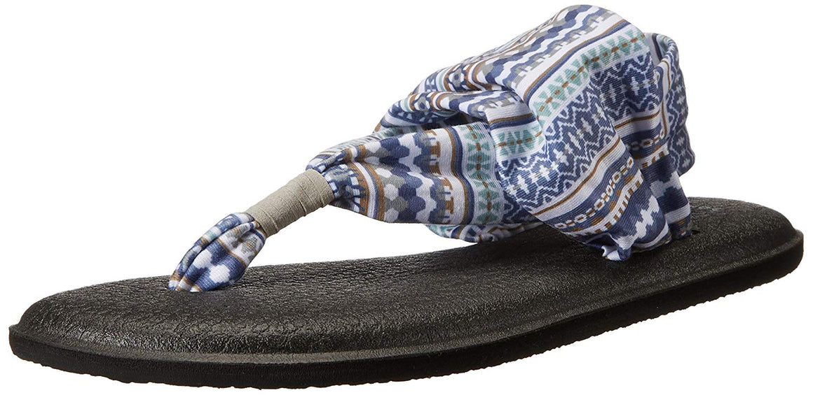 Sanuk Yoga Sling 2 Lead Grey Lanai Blanket Sandals - Women's