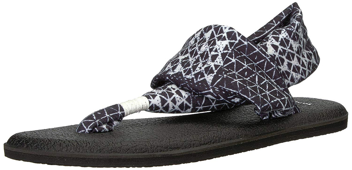 Sanuk Yoga Sling 2 Vintage Black Ojai Folk Sandals - Women's