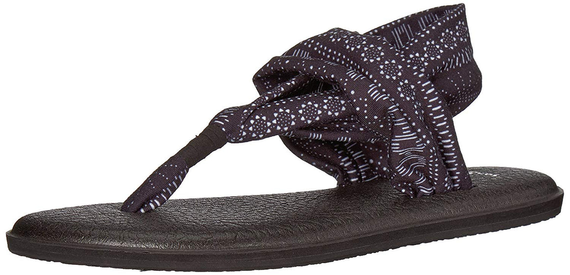 Sanuk Yoga Sling 2 Vintage Black/White Shibori Stripes Sandals - Women's