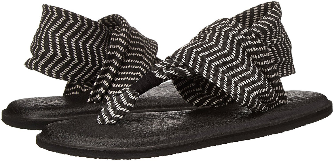 Sanuk Women's Yoga Sling 2 Black / Natural Congo Sandals - Women's