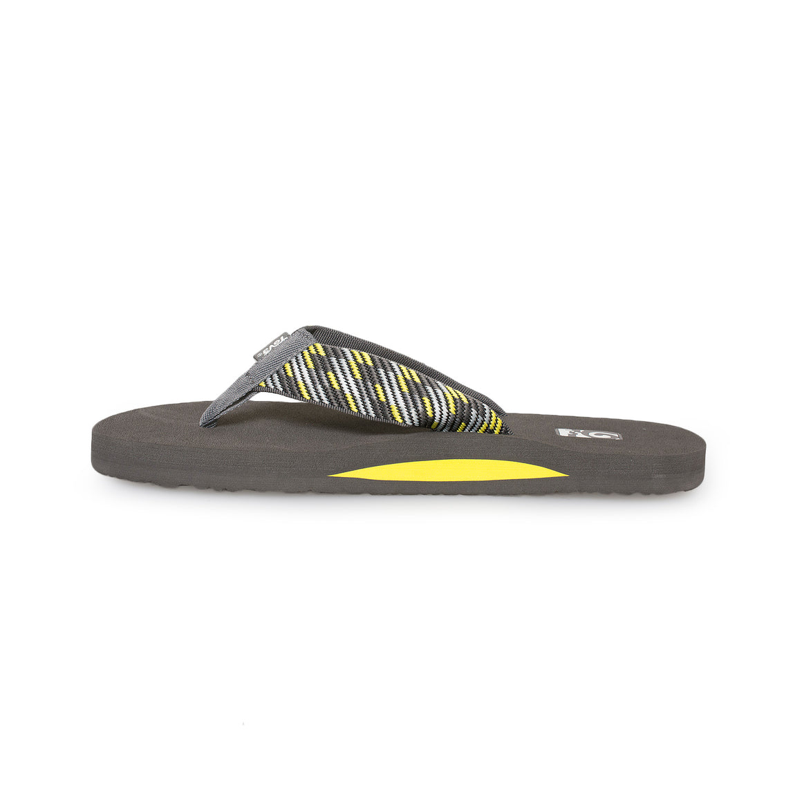 Teva Mush II Nitro Grey / Yellow Flip Flops - Men's