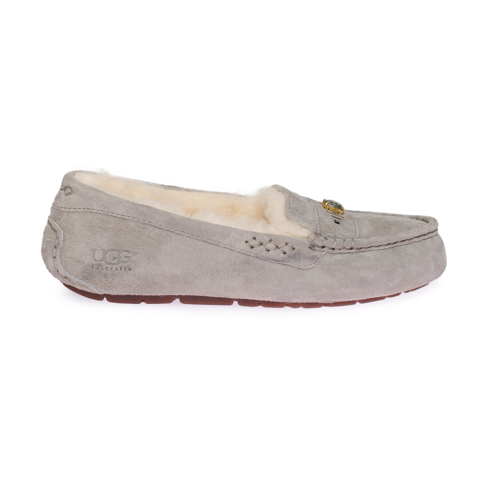 2a1053b41a5 UGG Ansley Chunky Grey Slippers - Women's