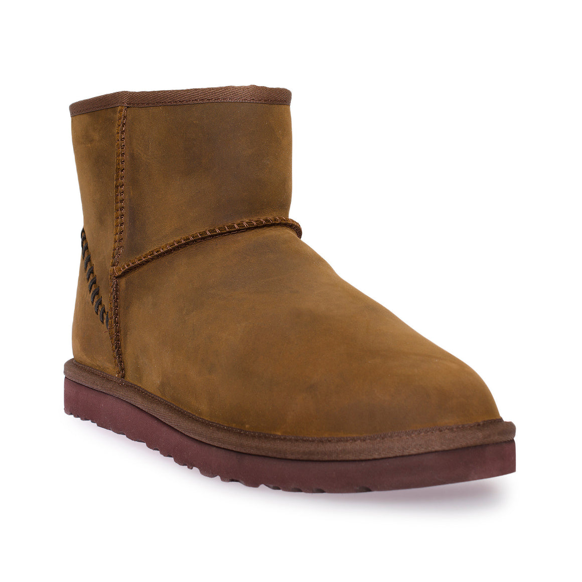 UGG Classic Mini Deco Leather Chestnut Boots - Men's