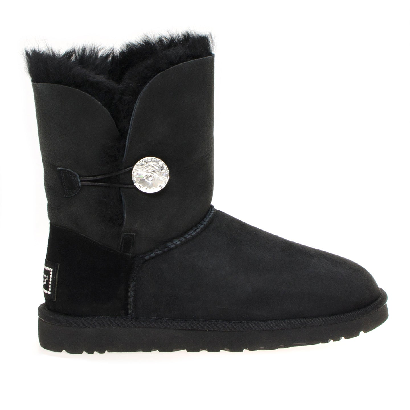 08201c72cfc UGG Bailey Button Bling Black Boots