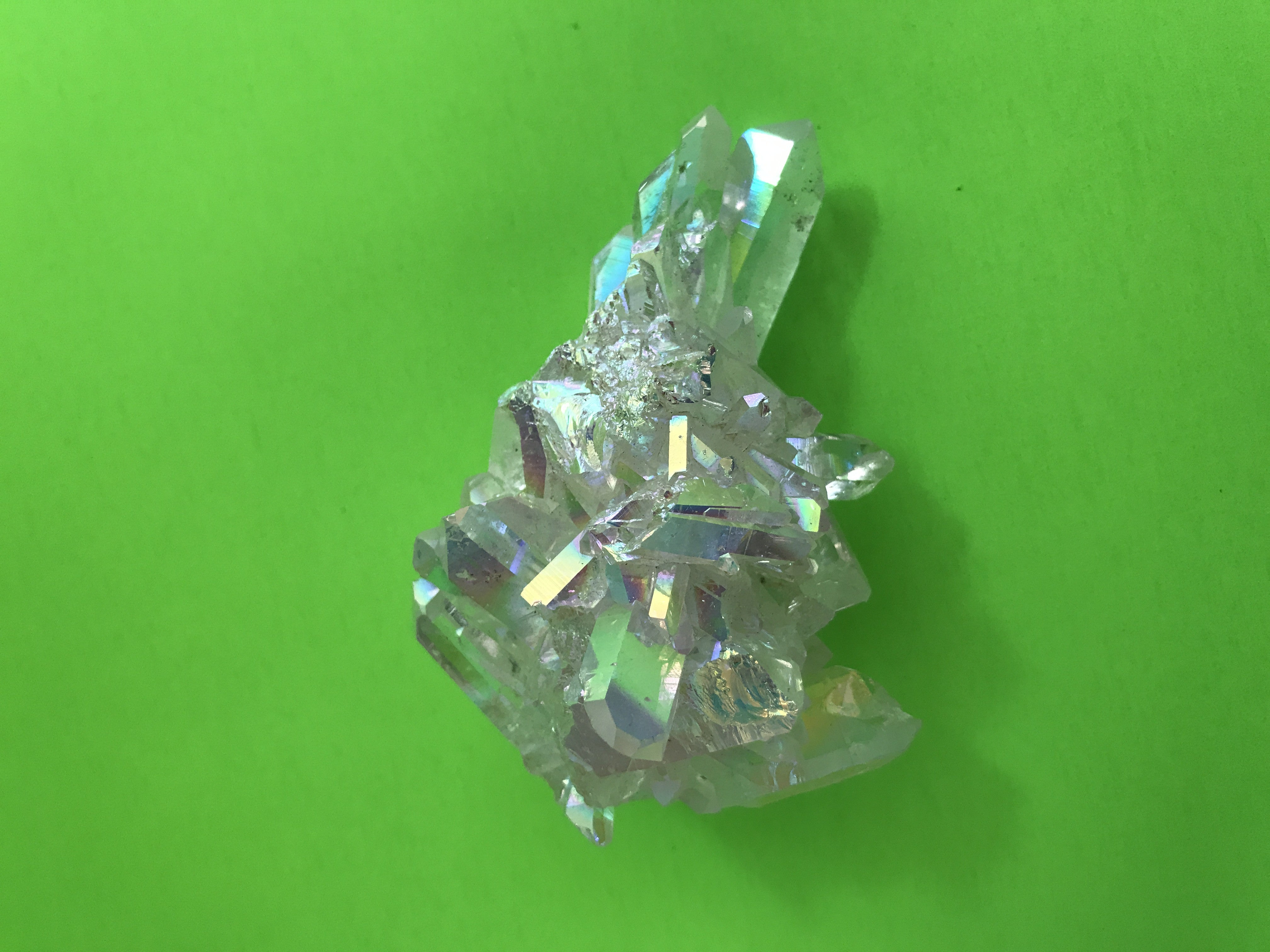 AAA Grade Large, Wild and Fiery Magical Brazilian Angel Aura Quartz Cluster 11 - TheCrystalFairy