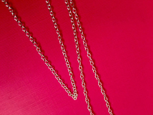 Dainty Thin Sterling Silver Round Chain