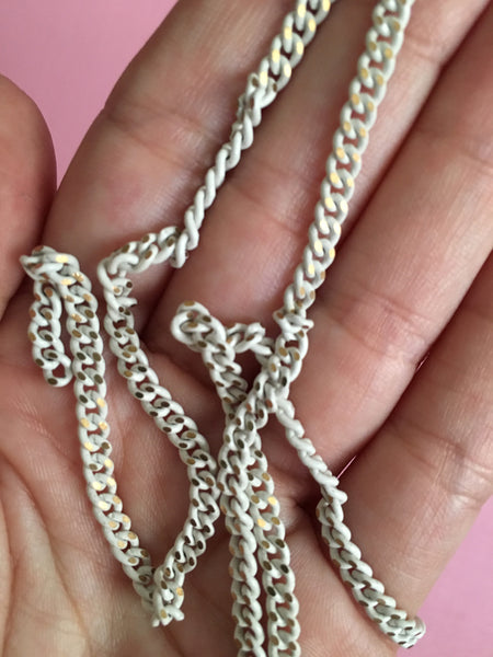 Super Thick Gold with Distressed White Coating Chain - TheCrystalFairy