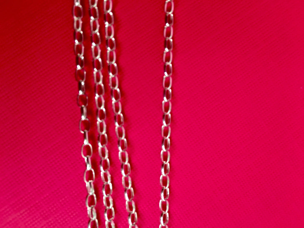 Thick Sterling Silver Round Chain - TheCrystalFairy
