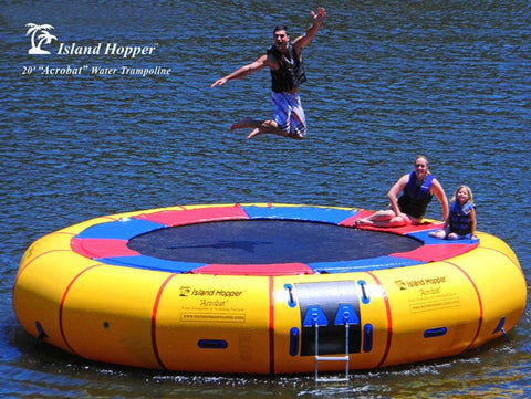 "20'  Island Hopper ""Acrobat""  steel framed water trampoline 1 