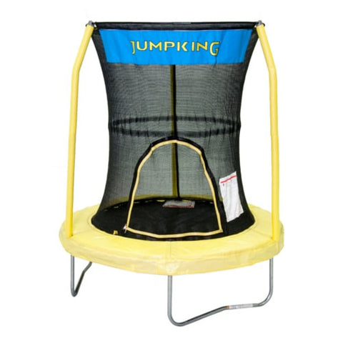 Bazoongi Toddler Trampoline 55 inch in Yellow with Safety Net Jumpking | The Trampoline Shop