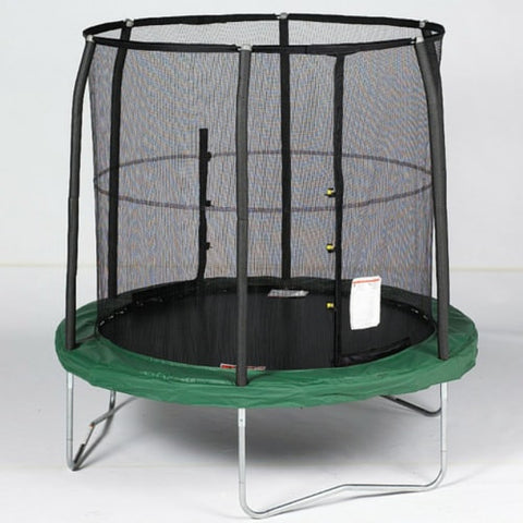 Bazoongi Trampoline for Kids 7.5 FT Jump Pod in Green with Safety Net 1 | The Trampoline Shop