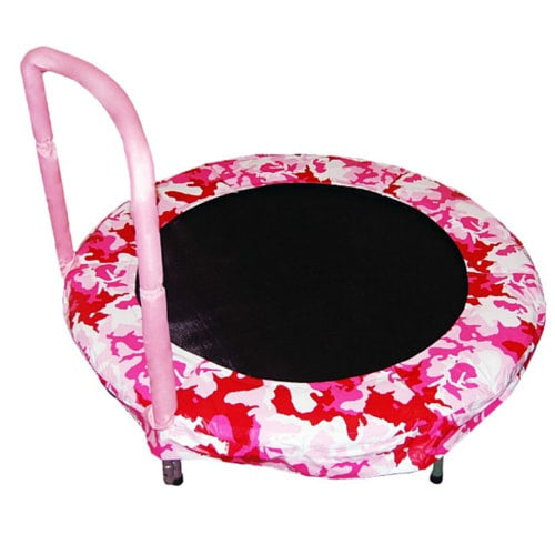 "Jumpking 48"" Kids Bouncer Trampoline in Camouflage Pink with Handles 