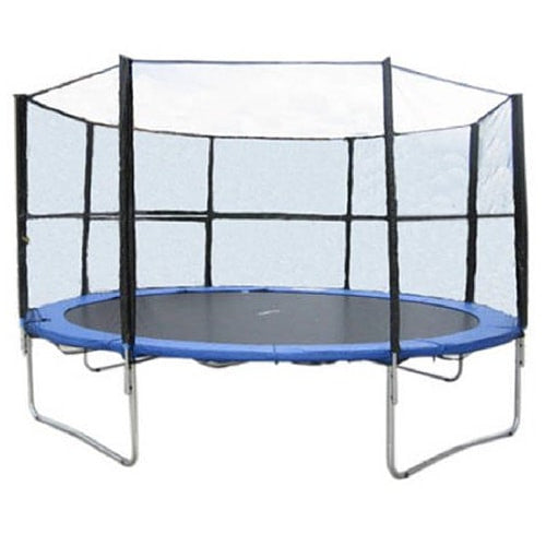 Exacme 15 FT Heavy Duty Trampoline Round with Enclosure Net and Ladder 1 | The Trampoline ShopExacme 15 FT Heavy Duty Trampoline Huge with Enclosure Net and Ladder