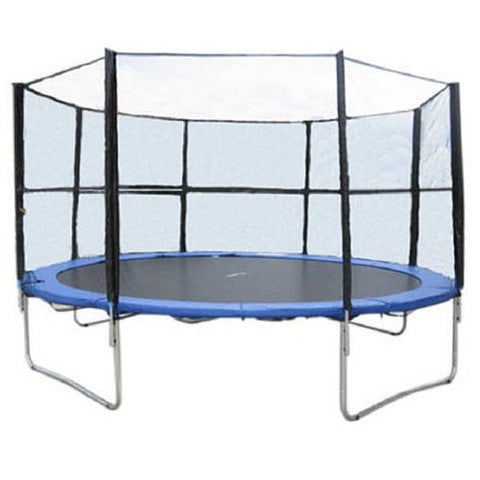 Exacme 14 FT Heavy Duty Trampoline Round with Enclosure Net and Ladder 1 | The Trampoline Shop