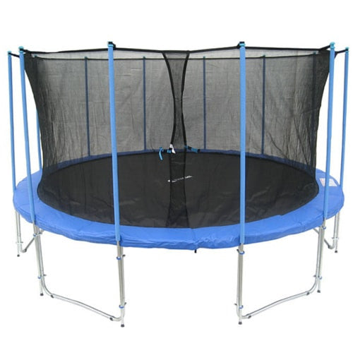 Exacme Huge 15 FT Trampoline Round with Inner Enclosure Net and Ladder 1 | The Trampoline Shop