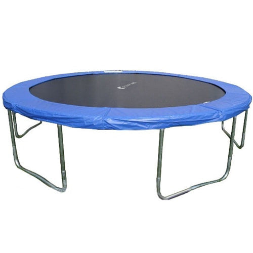 New Heavy Duty Trampoline 14 Ft With Ladder Safety Net: Exacme 14 FT Round Trampoline With Blue Regular Cover Pad