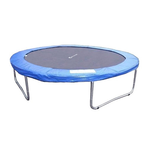 Exacme 8 FT Trampoline with Round Blue Cover Pad and No Enclosure Net 1 | The Trampoline Shop